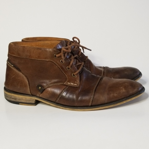 bbdca3409cb Steve Madden Klatin Brown Leather Chukka Boot 10.5